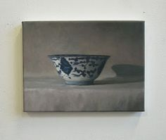 JAN WISSE: oil on canvas - study - 'Chinese Bowl' - 15 x 20 c...