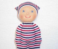 Waldorf  Pocket  doll for boys  and girls  a by IrenesDollShop