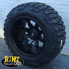 www.rimzoneonline.com - 20x12 Fuel Octane Black 38x15.50-20 Nitto Mud Grappler