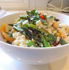 Couscous with Roasted Vegetables, Chickpeas and Feta