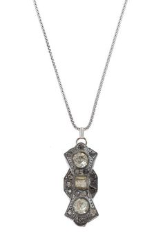 Handmade art deco necklace with a vintage 1920s component on a sterling silver chain by The Ritzy Rose