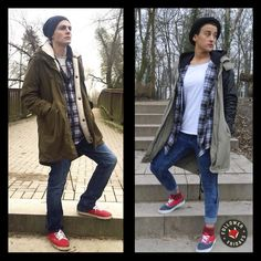 Flannel Foxes creates unisex apparel and accessories made in our home and native land. Tomboy Fashion, Foxes, Military Jacket, Flannel, Women Wear, Unisex, Awesome Stuff, Promotion, Jackets