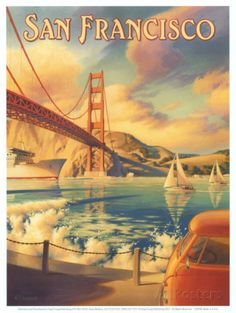 San Francisco Poster by Kerne Erickson at AllPosters.com