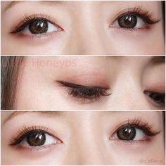 Eye make up Makeup Inspo, Makeup Inspiration, Makeup Tips, Beauty Makeup, Asian Eye Makeup, Natural Eye Makeup, Korean Make Up, Asian Make Up, Bridal Hair And Makeup