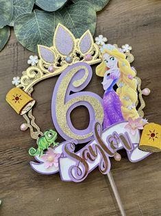 Diy Cake Topper, Fondant Toppers, Rapunzel Birthday Party, Princess Birthday, Princess Cake Toppers, Birthday Cake Toppers, Bolo Rapunzel, Disney Rapunzel, Creative Birthday Cakes