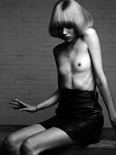 Freja Beha Erichsen by Hedi Slimane for Vogue Paris November 2010