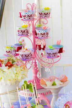 Cupcakes at a Magical Fairy Garden Party