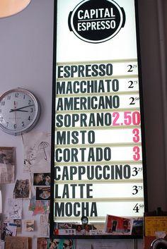 not USA but I want to go to TORONTO too!  capital espresso, toronto, ont.