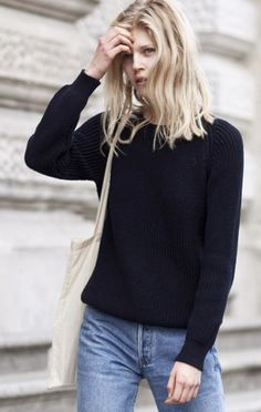 black and denim#street style