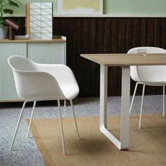 Muuto's Fiber armchair in white is stylish seat that offers maximum comfort, whether you're working from home and need to chair to sit at your home office desk, dining/kitchen table or bedroom dressing table. off until May at someday designs. Dining Table In Kitchen, Dining Chairs, Desk Chairs, Dining Room, Modern Desk Chair, Mug Design, Inspiration Design, Home Office Space, Office Desk