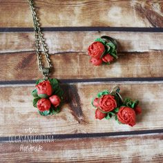 Check out this item in my Etsy shop https://www.etsy.com/ru/listing/474203464/polymer-clay-peony-set-handmade-peony