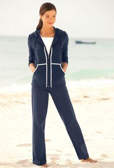 7d1dd843ad29e Women s Jogging Suit   Contrast-Trim Pants Set