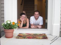 First home photo in the doorway. Love the down-to-earth feel.