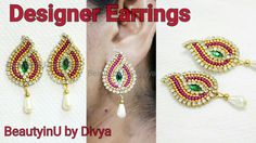 How to make Designer Earrings // Paper Earrings // DIY // Paper Jeweller...