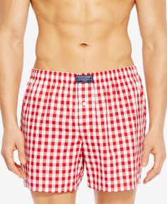 Polo Ralph Lauren adds a fresh look to a classic with the colorful print of these woven boxers. | Cotton | Machine washable | Imported | Stretch waistband with logo tag | Single-button fly | Allover p