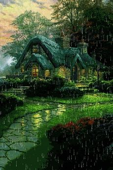 English cottage on a rainy day gif Beautiful Gif, Beautiful Places, Beautiful Pictures, Gif Pictures, Nature Pictures, Gif Bonito, Rain Gif, I Love Rain, Rain Days