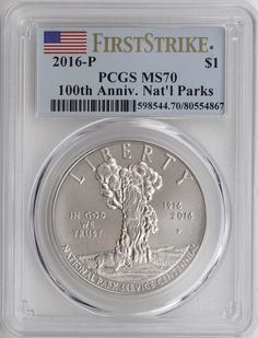 2016-P 100th Ann National Parks First Strike Silver Dollar PR69DCAM PCGS PL
