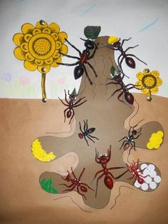 under an ant hill preschool science Ant Crafts, Insect Crafts, Insect Art, Preschool Activities, Kindergarten Art Projects, In Kindergarten, Animal Crafts For Kids, Toddler Crafts, Ant Hill Art