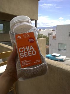 Chia Seeds. Thinking about adding these to the smoothies, as well...but nervous I won't be able to get past the texture.