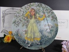 Little Bo Peep Collectors Plate 1983 Original Packaging Vintage Collectibles Mother Goose Series Artist John McClelland by TheStorageChest on Etsy