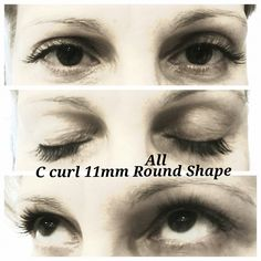 Our client just loves her #lashes! C - Curl, 11mm , All Around Shape - perfect for brightening the eyes!