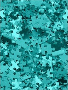 Spray paint puzzle pieces in orange and turquoise center piece. Shades Of Turquoise, Shades Of Blue, 50 Shades, Photo Wall Collage, Picture Wall, Les Bahamas, Vert Turquoise, Bleu Pastel, Azul Tiffany