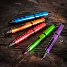 Metallic Pilot Vanishing Points, oh so juice colors. Want them all. #fountainpens