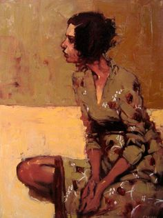 Faraway look, Michael Carson  Oil on canvas