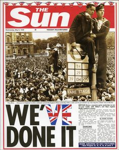 1945: VE Day marks the end of World War Two