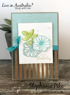 There is so much I love in the new Stampin' Up! catalogue and this card uses a few of my new favourite things!! So to start with I used the new Oh so Eclectic stamp set…this one is a ri…