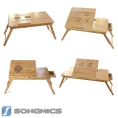 Bamboo Portable Folding Notebook Computer PC Laptop Table Bed Desk Stand