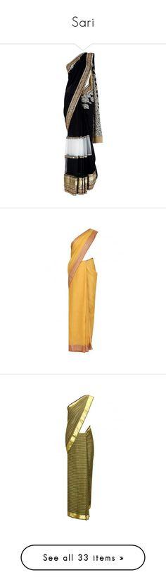 """Sari"" by natasha-maree13 ❤ liked on Polyvore featuring dresses, sari, indian, saree, saris, tops, blouses, clothing & accessories, red and novica"