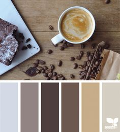 Coffee browns for the home color, design seeds и brown paint Design Seeds, House Color Schemes, Colour Schemes, House Colors, Paint Schemes, Brown Image, Good Color Combinations, Web Design, House Design