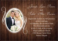 rustic wood wedding announcements - Google Search