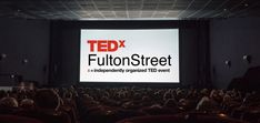 TEDxFultonStreet - CG mockup of a theatre space