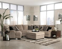 Katisha - Platinum Stationary Living Room Group by Signature Design by Ashley