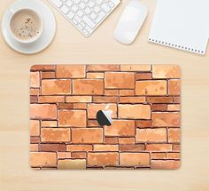 "The Vector Brick Wall Slabs Skin Kit for the 12"" Apple MacBook from DesignSkinz"
