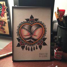 american traditional heart tattoo flash - Google Search