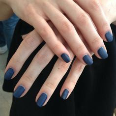 There's more than meets the eye with these nails by Essie at Costella Tagliapietra. Combining Midnight Cami, Mademoiselle and finishing with Matte About You, the nails were a matte navy that stood out.