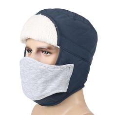 Caciula calduroasa de iarna pentru barbati, cu plus si protectie la urechi, cu masca, pentru exterior Winter Hats, Clothes, Beauty, Fashion, Outfits, Moda, Clothing, Fashion Styles, Clothing Apparel