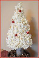 Natural Christmas tree made of popcorn