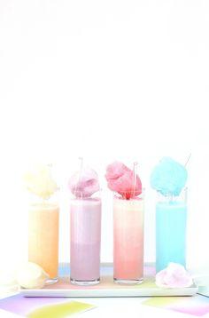 Pastel Cotton Candy Cream Soda - Food Recipes :)