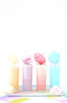 Pastel Cotton Candy Cream Soda - Food Recipes :)