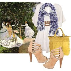 #diskartengpinay  Art Inspired Outfits  Monet, created by georgina-m on Polyvore