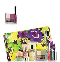 NEW 2015 Clinique 9 Pcs Makeup Skincare Gift Set with Brush Kit  More 85 Value -- Read more  at the image link.