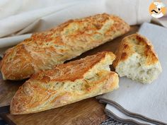 No-knead French baguettes, photo 4 Panera French Baguette Recipe, Baggette Recipe, Pan Baguette Receta, Baguette Express, Sicilian Recipes, Calzone, I Foods, Food And Drink, Cooking Recipes