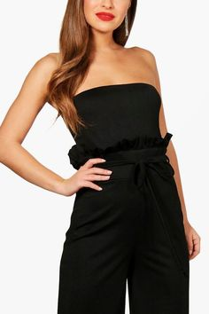 42a50c455bc Boohoo Boutique Paper Bag Waist Bandeau Jumpsuit Size UK 8 rrp 20 DH180 ii  09  fashion  clothing  shoes  accessories  womensclothing  jumpsuitsrompers  (ebay ...