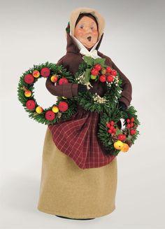 Carolers Woman Selling Evergreens