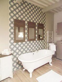 Carrelage imitation carreau ciment sol et mur 15 x 15 cm for Carreau bleu mur salle de bain marseille