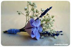 """Anaquiños de papel: Ramo """"lady blue"""" con lavanada y paniculata_Boda A&C"""